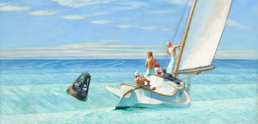 Ground Swell (Lame de fond) – Edward Hopper 1939 – Huile sur toile – 92 x 127 cm – National Gallery of Art, Washington DC.